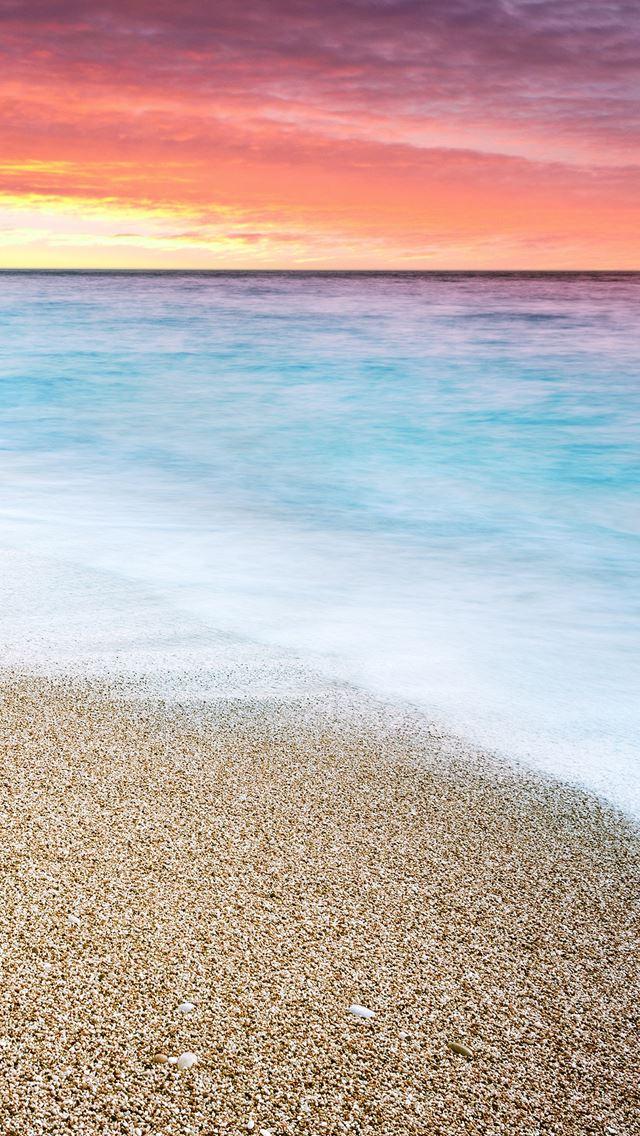 Sunset At Beach IPhone Se Wallpaper