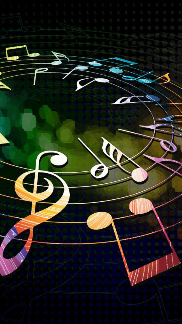 Colorful Musical Notes IPhone Se Wallpaper