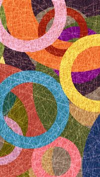 Colorful Circles iPhone wallpaper
