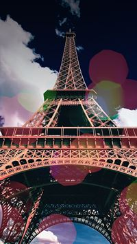 Eiffel dream iPhone wallpaper