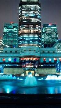Canary Wharf  iPhone wallpaper