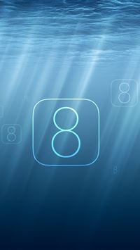 Undersea iOS 8 iPhone wallpaper