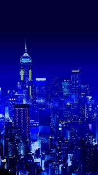 Deep Night City Scene iPhone wallpaper