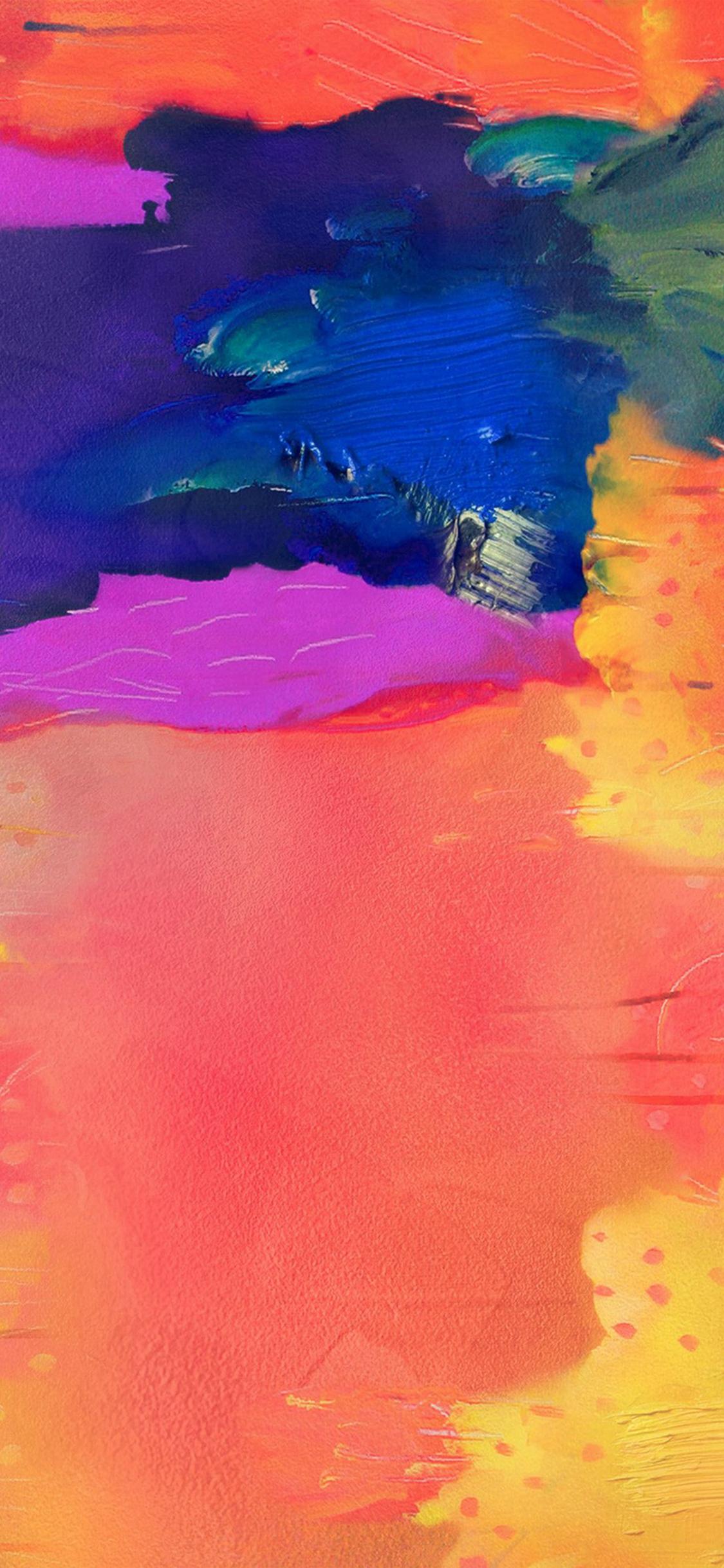 Note Pro Galaxy Painting Art Pattern Rainbow iPhone X wallpaper