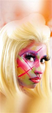 Nicki Minaj Face Girl Music iPhone X wallpaper