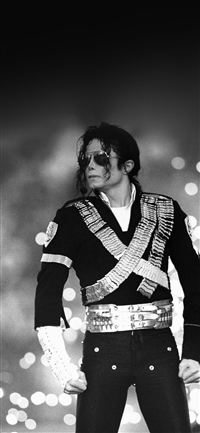 Michael Jackson Bw Concert King Of Pop iPhone X wallpaper