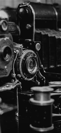 Photos Of Cameras Dark Classic  iPhone wallpaper