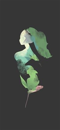 Flower Dark Woman Illustration Art iPhone X wallpaper