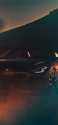BMW Car Photo Illustration Art iPhone X wallpaper