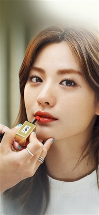 Nana Kpop Girl Lips Red iPhone X wallpaper