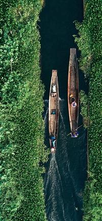 Earthview Green Sky Illustration Art iPhone X wallpaper