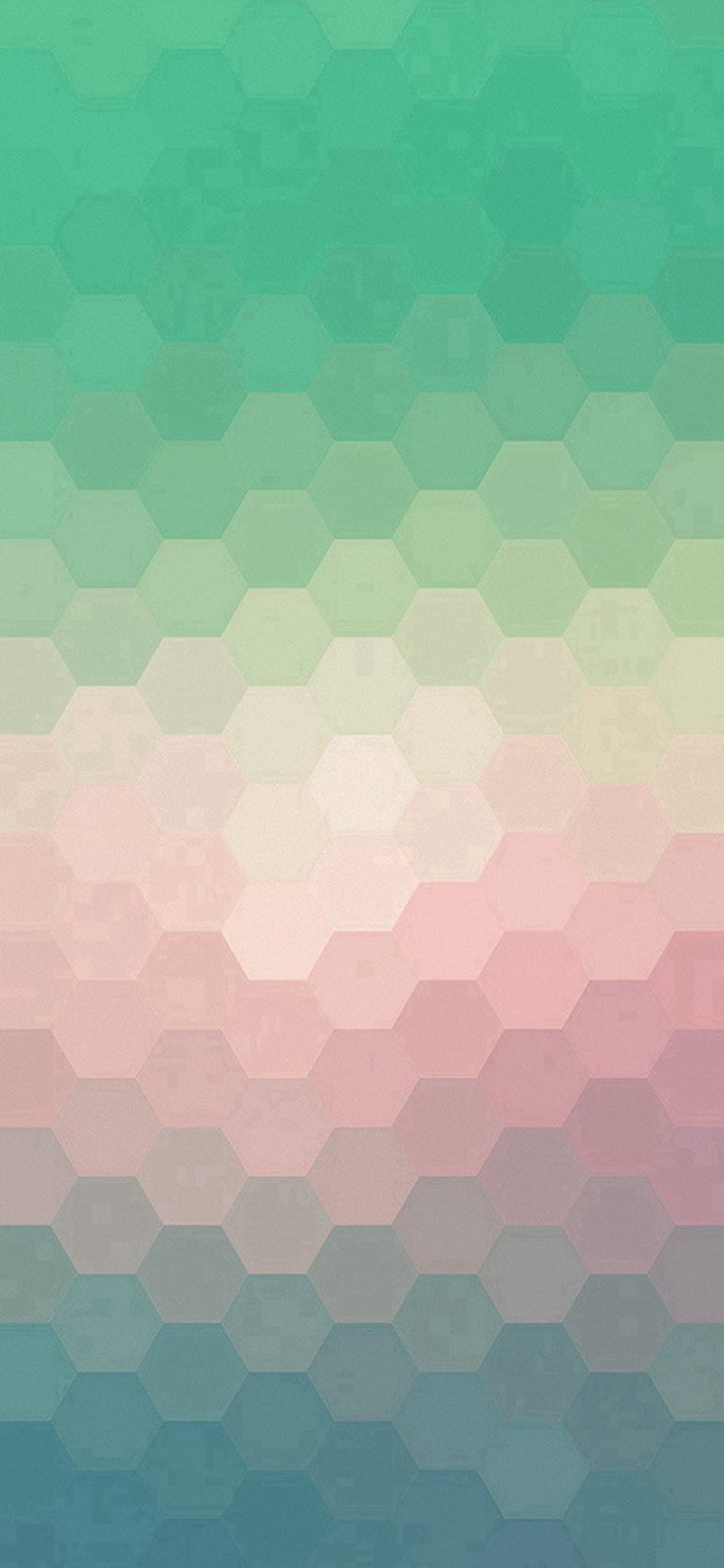 Hexagon Green Red Pattern Background IPhone X Wallpaper