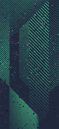Htc Art Design Dot Paint Pattern Green iPhone X wallpaper