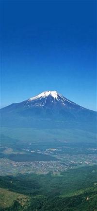 Nature Volcano Mountain Remote Scenery Plain Land iPhone X wallpaper