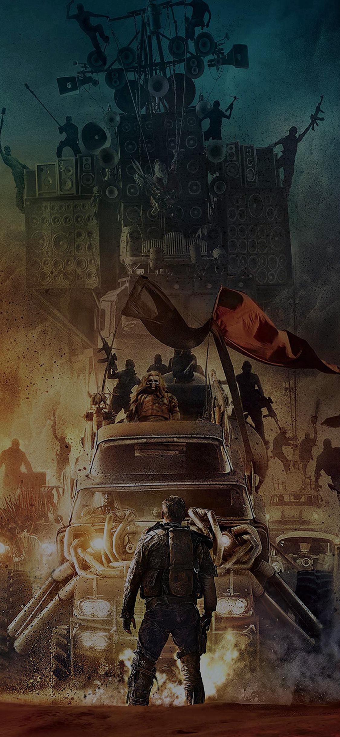 Poster Mad Max Furyroad Art Illust Dark iPhone X wallpaper