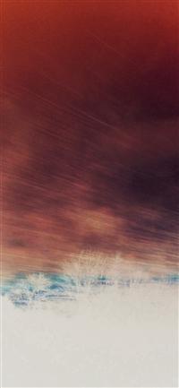 Fast Train Nature Red Sky View Bokeh iPhone X wallpaper