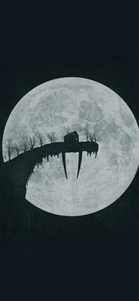Tusk Moon Poster Illustration Art Dark Iphone Wallpaper