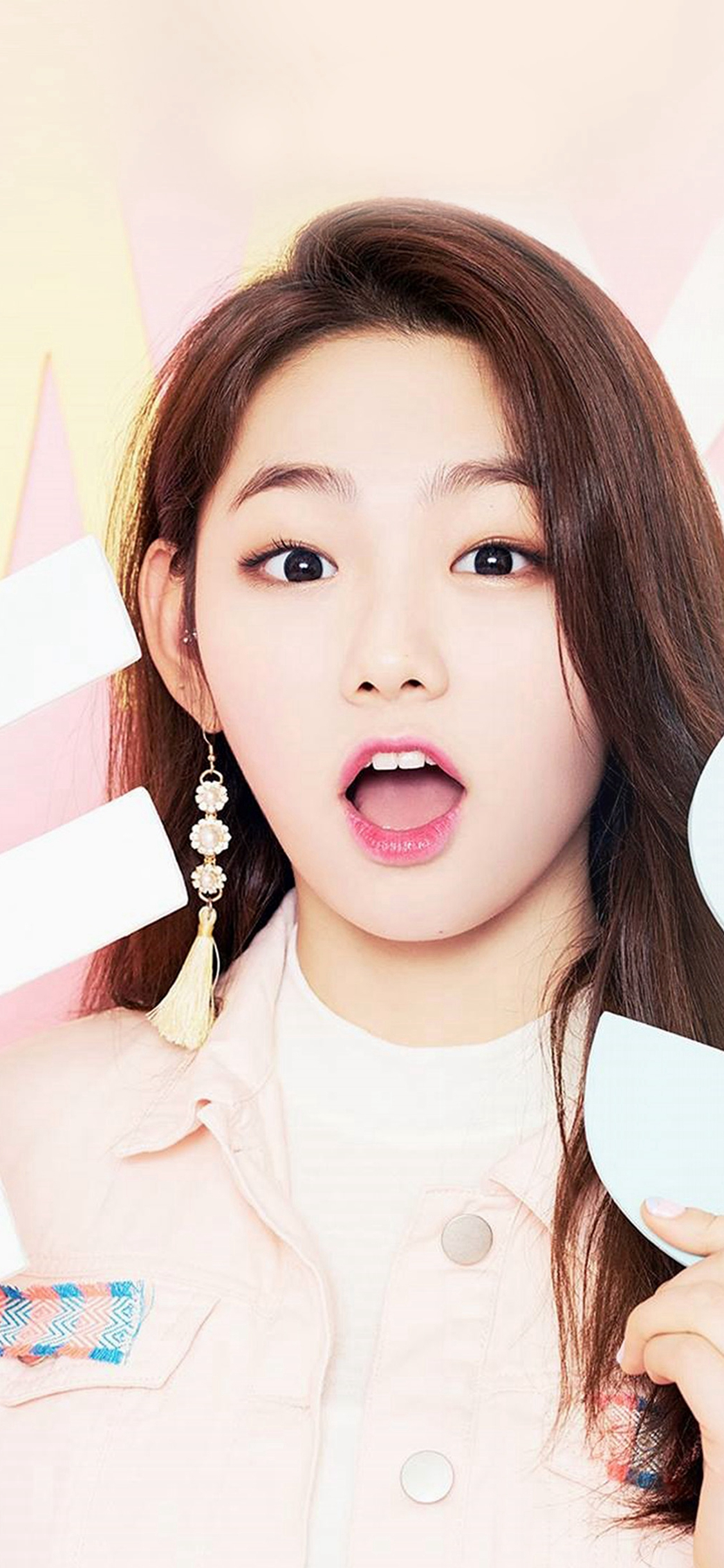 Girl Ioi Pink Cute iPhone X wallpaper