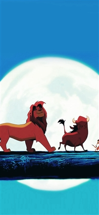 Hakuna Matata Disney Lionking Illust Art iPhone X wallpaper