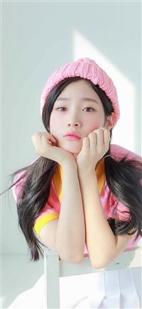Ioi Chaeyeon Girl Pink White Asian iPhone X wallpaper