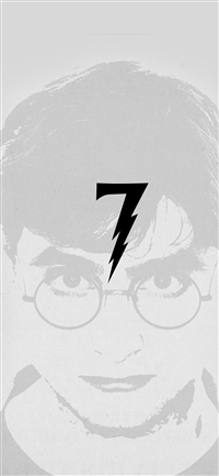 Harry Potter Art Minimal Film Gray iPhone X wallpaper