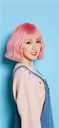 Pink Hair Asian Kpop Girl iPhone X wallpaper