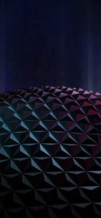 Polygon Planet Dark Digital Art Pattern iPhone X wallpaper