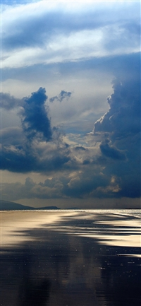 Beach Sea Summer Rain Cloud Nature iPhone X wallpaper