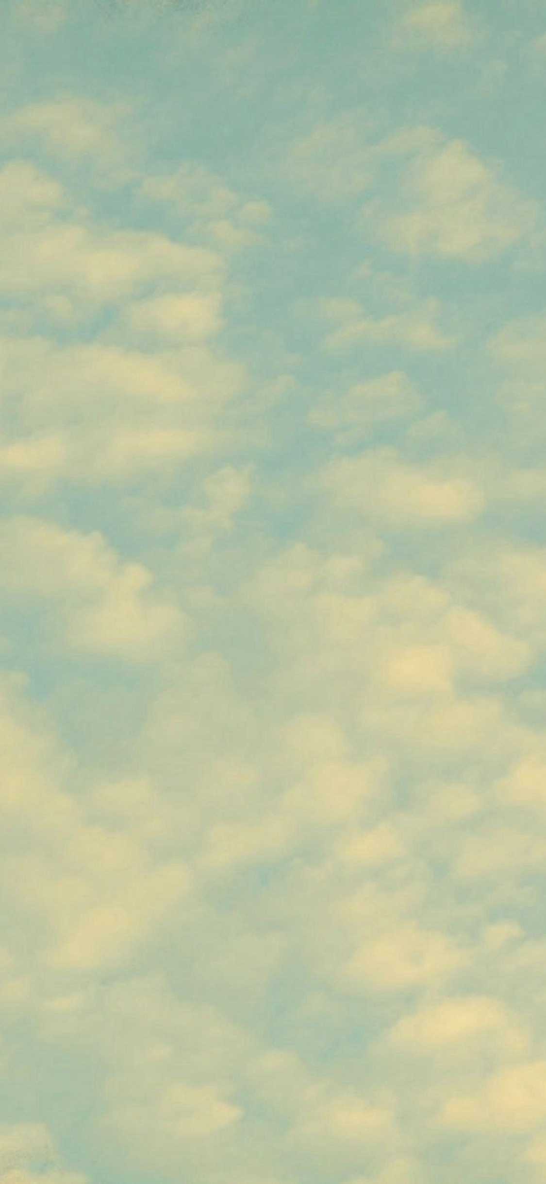 Sky Clouds Fade Nature Pattern iPhone X wallpaper