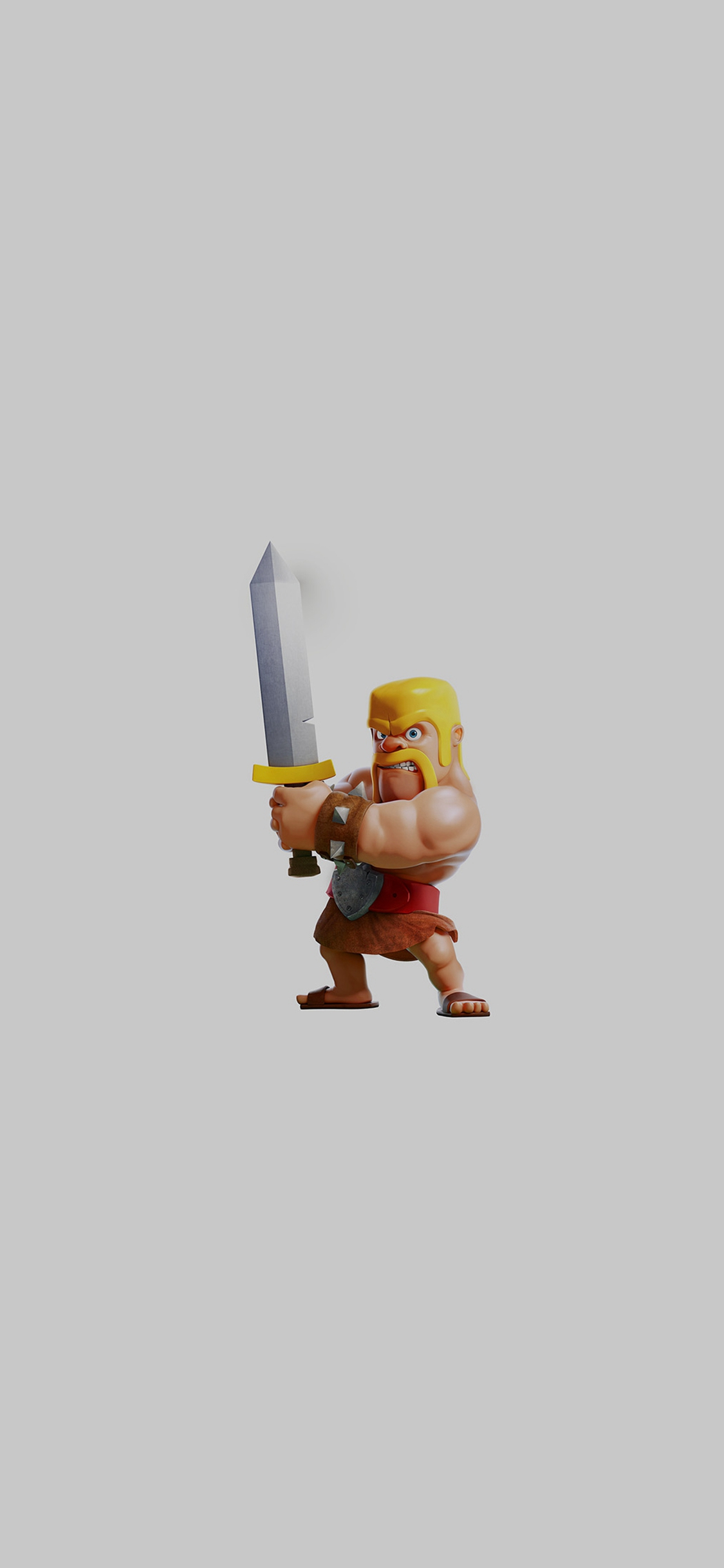 Barbarian Clash Of Clans Art Dark Game iPhone X wallpaper