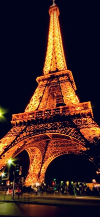 Eiffel Tower Paris Night Art Illustration iPhone X wallpaper