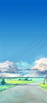 Sunny Sky Arsenic Art Illustration iPhone X wallpaper