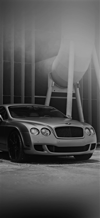 Bentley Motors Bw Dark Car Park Art City iPhone wallpaper