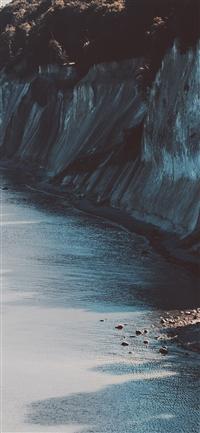 Sea Coast Dark Nature iPhone X wallpaper
