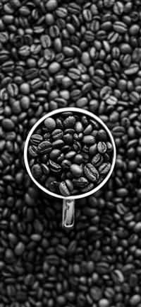 Coffee Bokeh Pattern Bw Dark iPhone X wallpaper