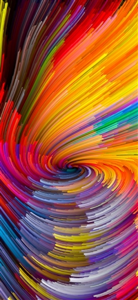 Digital Abstract Line Color Rainbow Pattern Background iPhone X wallpaper