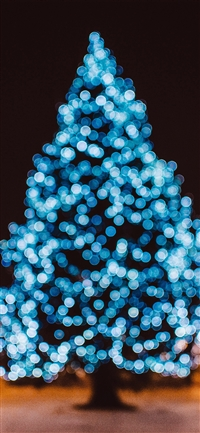 Christmas tree iPhone X wallpaper