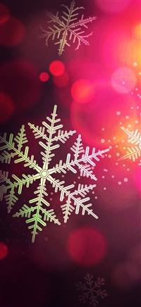 Snow bokeh iPhone X wallpaper