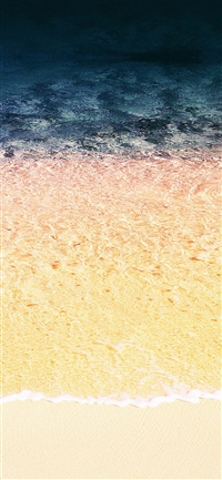 Rainbow beach sea iPhone X wallpaper