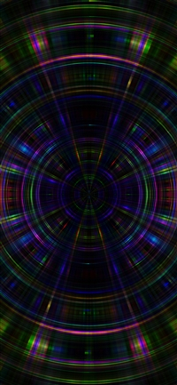 Psychic color circle abstract iPhone X wallpaper