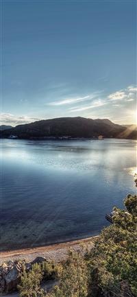 Lake peace great sundown iPhone X wallpaper