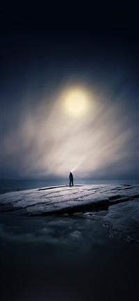 moonlight night iPhone X wallpaper