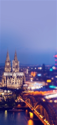 Cologne cathedral hohenzollern bridge iPhone X wallpaper