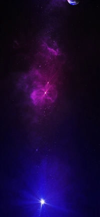 Space travel dead star iPhone X wallpaper