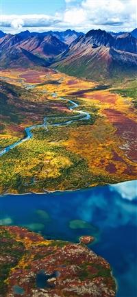 Land rainbow iPhone X wallpaper