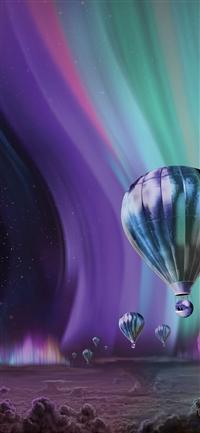 Jupiter aurora space sky art iPhone X wallpaper