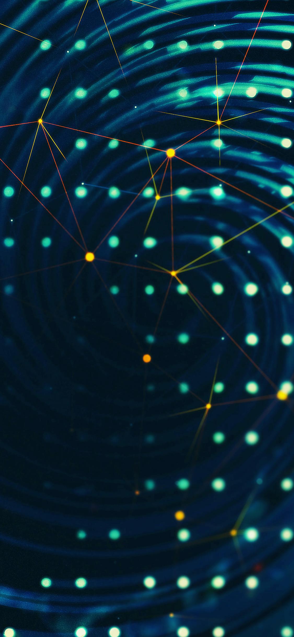 Spiral lights graphic art  iPhone X wallpaper