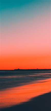 Sunset beach iPhone X wallpaper