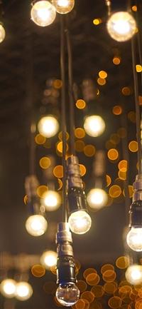 City bokeh light iPhone X wallpaper