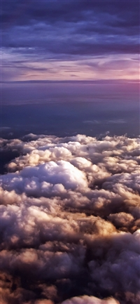Cloud flare sky iPhone X wallpaper